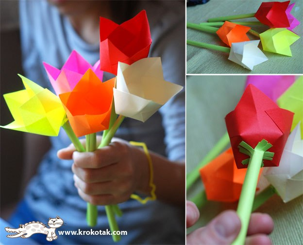 Самые простые цветы из бумаги своими руками схемы